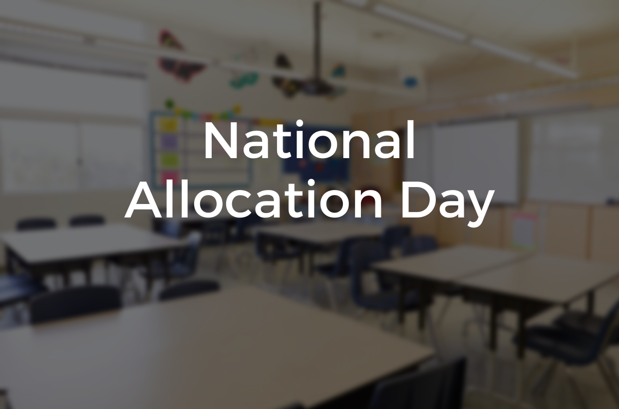 Welcome to The Manor! National Allocation Day 2020